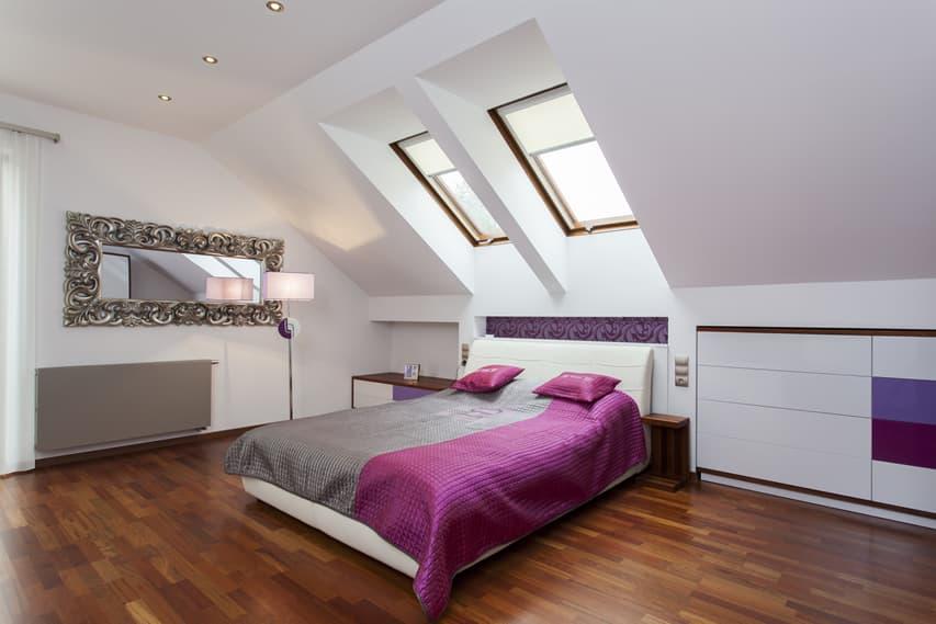 Attic bedroom modern style