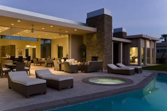Beautiful Swimming Pool Luxury Home Designing Idea