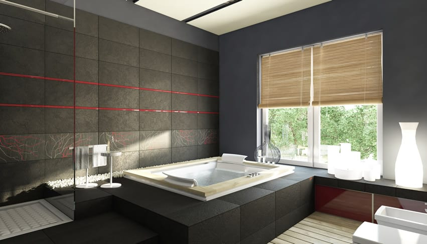 15 black and white bathroom ideas design pictures for Small bathroom zen design