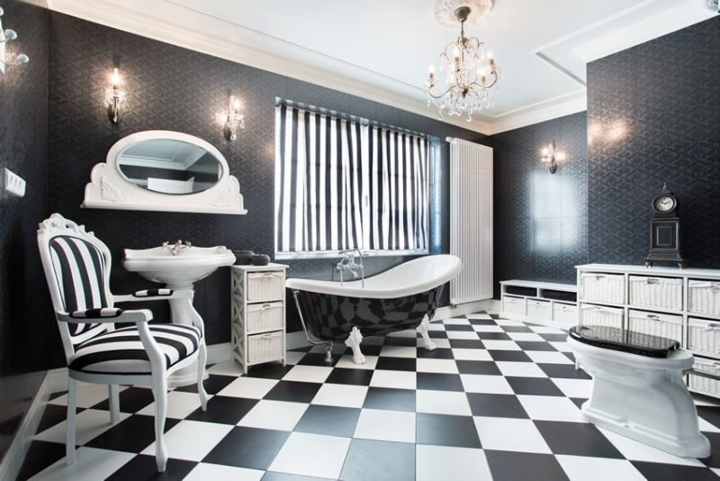 Black And White Bathroom Ideas Design Pictures Designing Idea - Black and white bathrooms ideas