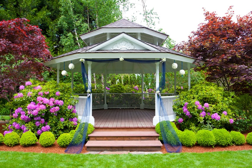 Gazebo Flooring Ideas 20 best and beautiful gazebo ideas home interior help the two tier roof makes this gazebo idea beautiful it is just perfect for your tea parties this victorian gazebo consolidates an assortment of colors and workwithnaturefo