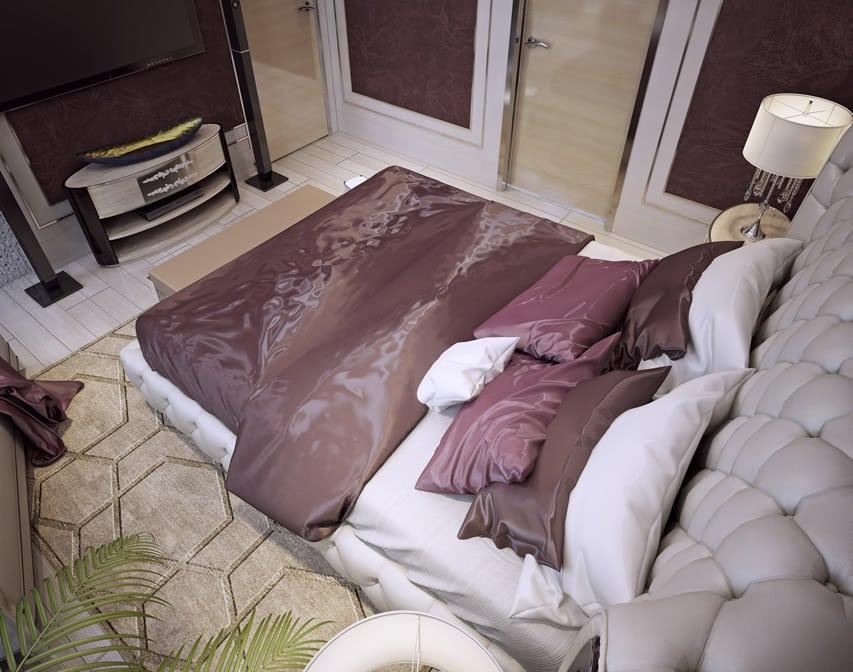 Luxurious bedroom purple theme