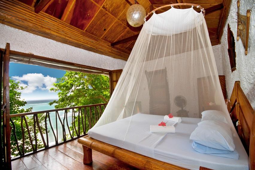 Luxury bedroom in tropical villa