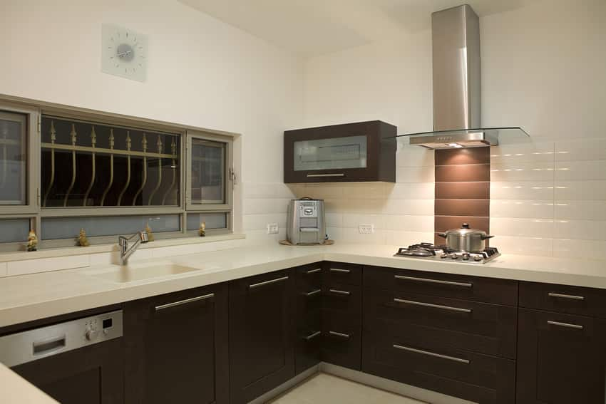 Modern kitchen in small room