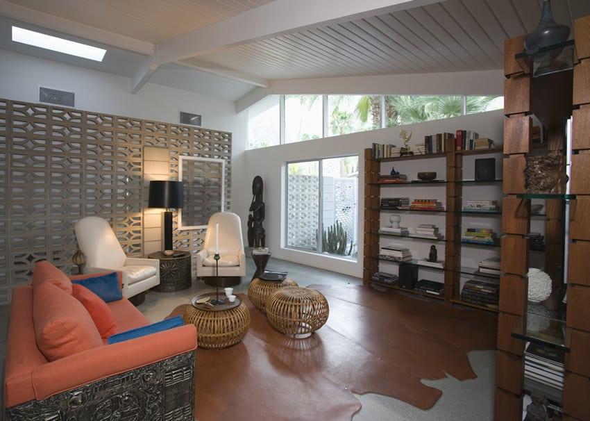 Asian inspired living room design
