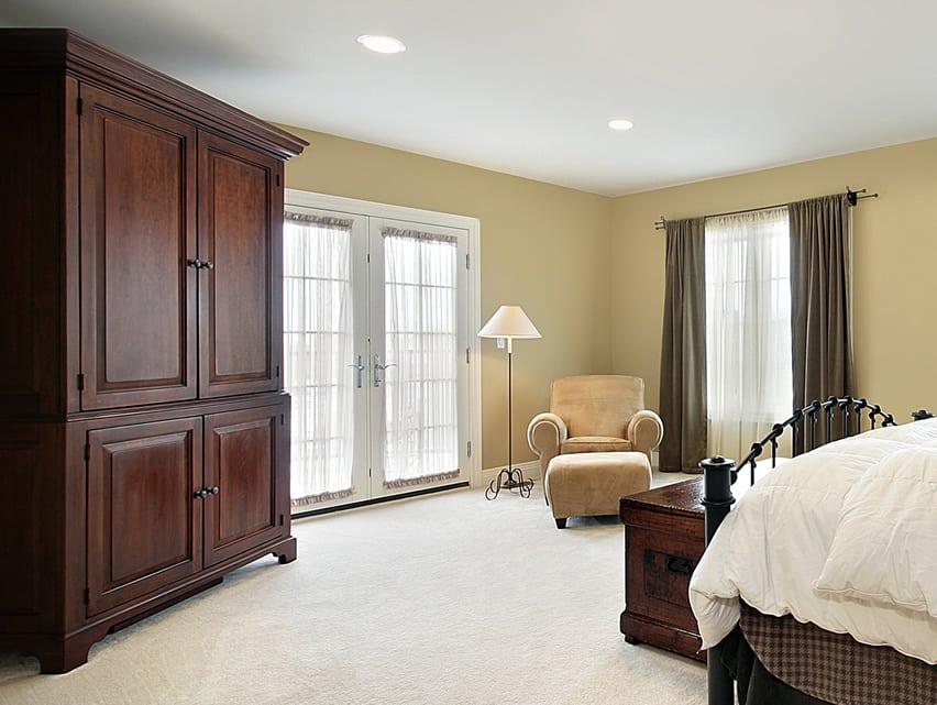 Large wood wardobe armoire for bedroom