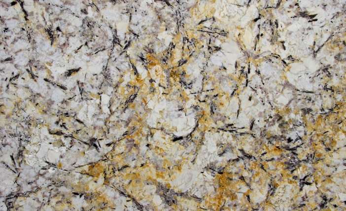 Gold and Silver Granite Slab