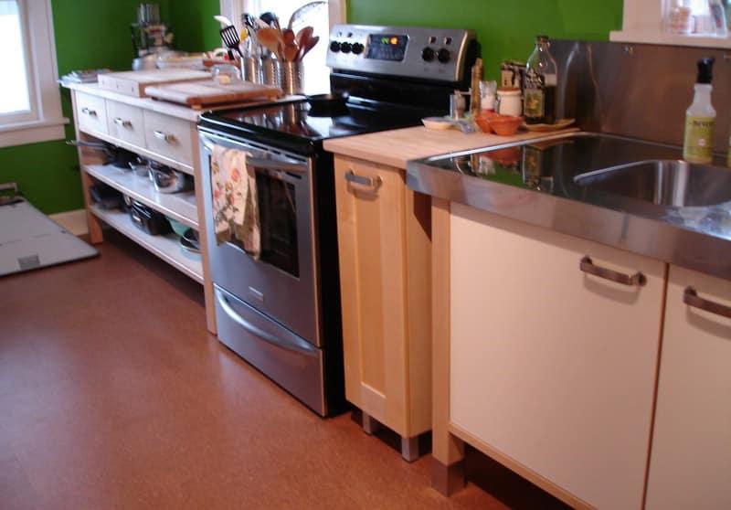 Kitchen floor ideas interior kitchen modern white for Popular kitchen flooring