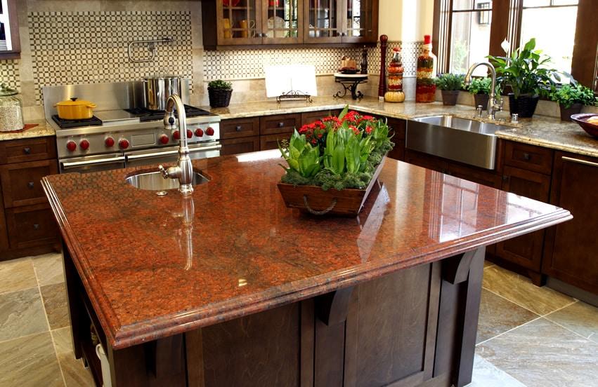 Jewel Tone Granite Kitchen Counter