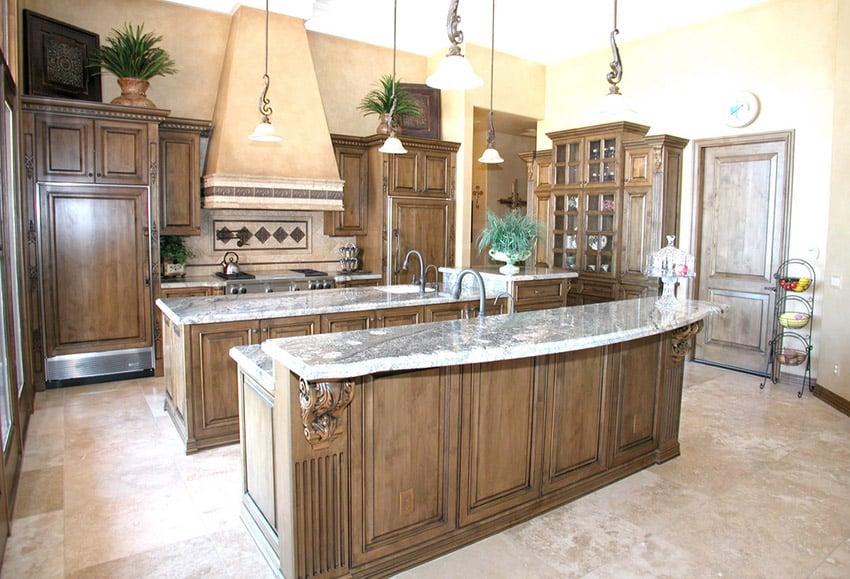 Custom rich wood decorative cabinet kitchen