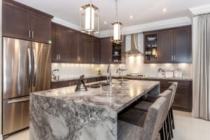 Beautiful Waterfall Kitchen Islands (Countertop Designs)