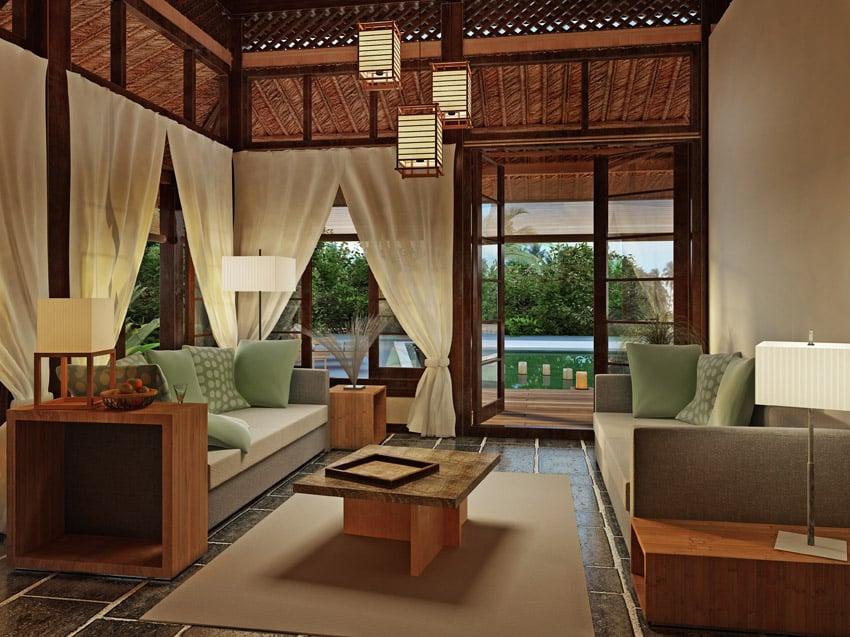 Custom Designed Living Room With Backyard Views