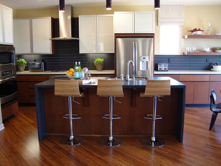 Modern kitchen dining island with open plan
