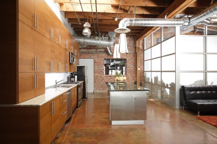 Modern Kitchen With Industrial Loft Style Part 77