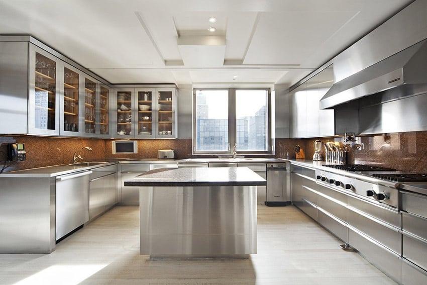 Stainless steel modern kitchen