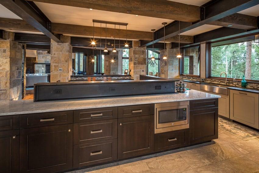 53 high-end contemporary kitchen designs (with natural wood