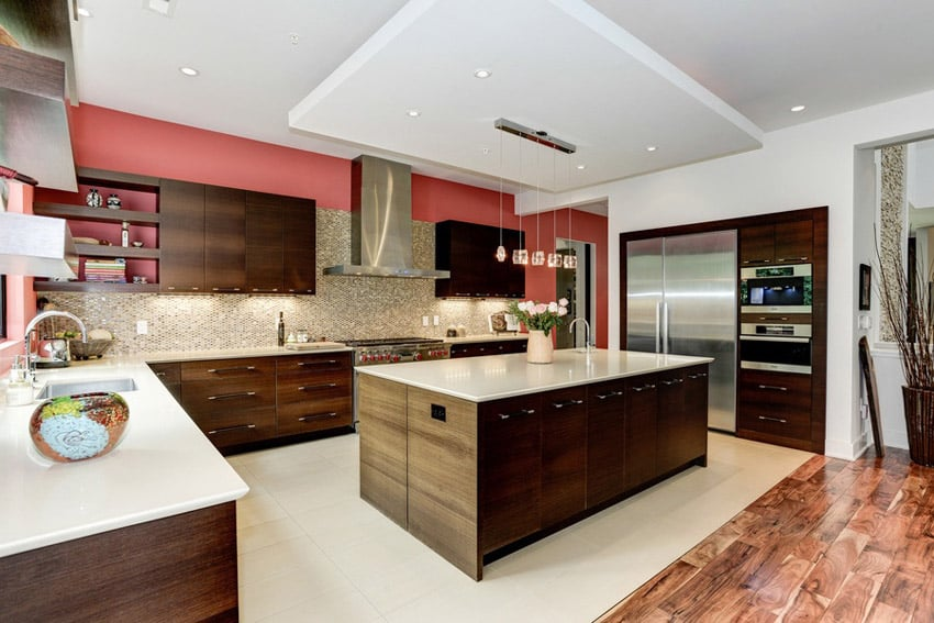 Kitchen with contemporary design features