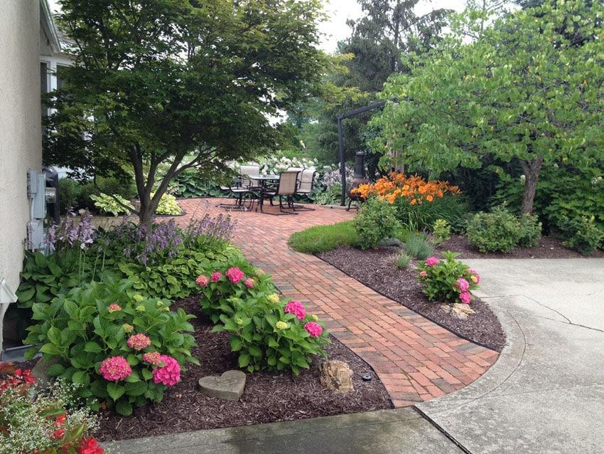 Walkway Ideas Designs Brick Paver Flagstone Designing Idea - Backyard walkway ideas
