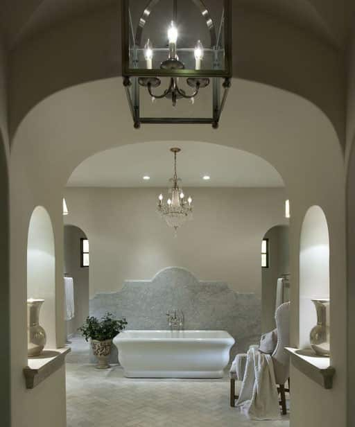 Large romantic master bath