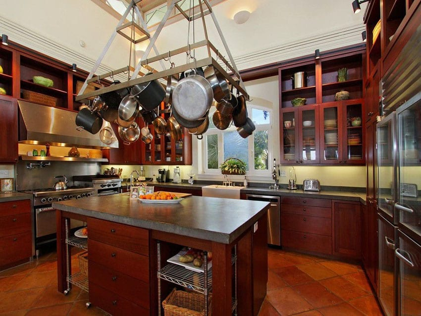 Kitchen Design Ideas With Cherry Cabinets 23 cherry wood kitchens (cabinet designs & ideas) - designing idea