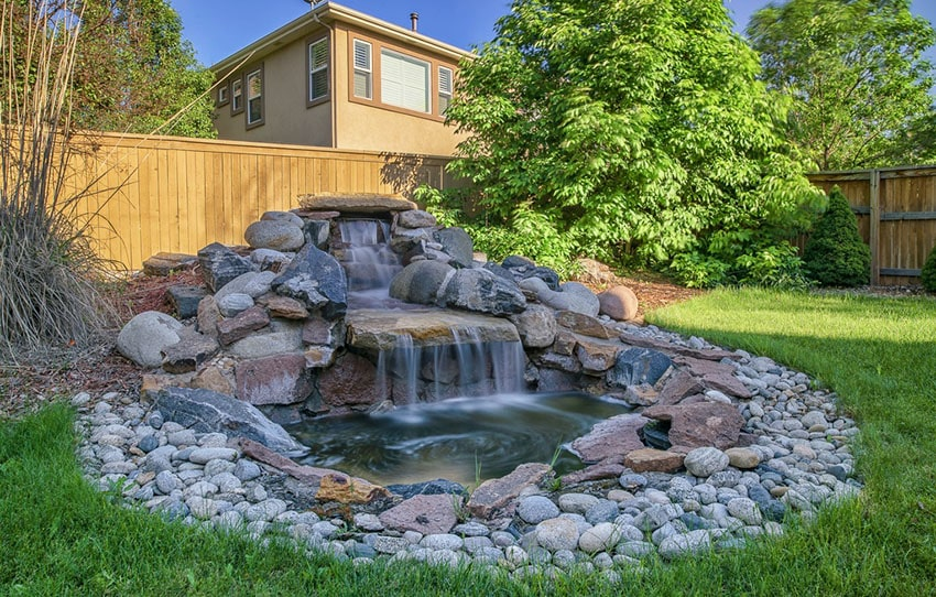 Backyard Stone Water Feature Waterfall