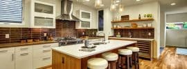 contemporary-kitchen-with-hickory-engineered-hardwood-floors