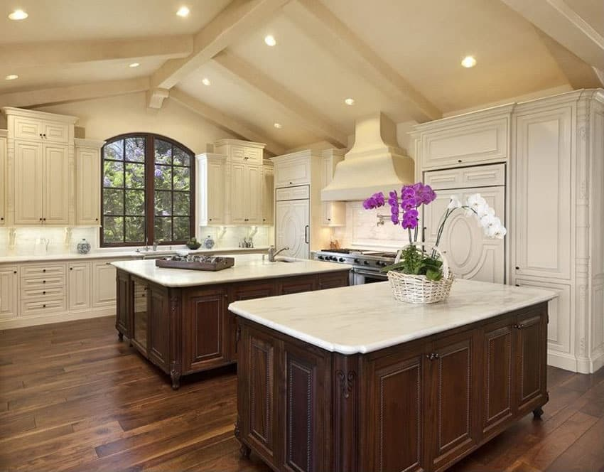 Hardwood floors in the kitchen pros and cons designing for Birch kitchen cabinets pros and cons