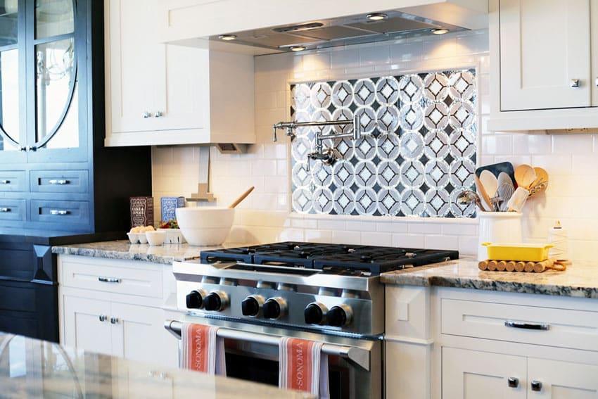 Kitchen backsplash designs picture gallery designing idea Kitchen backsplash design over stove
