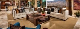 contemporary-living-room-with-coffered-ceiling-and-open-view-of-mountains