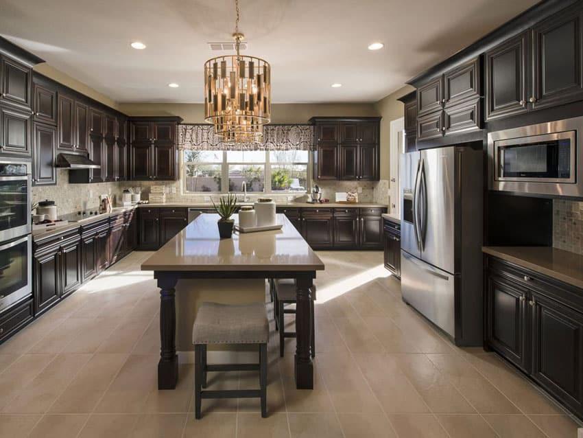 Kitchen Floor With Dark Cabinets contemporary kitchen floor tiles with dark cabinets tile yellow