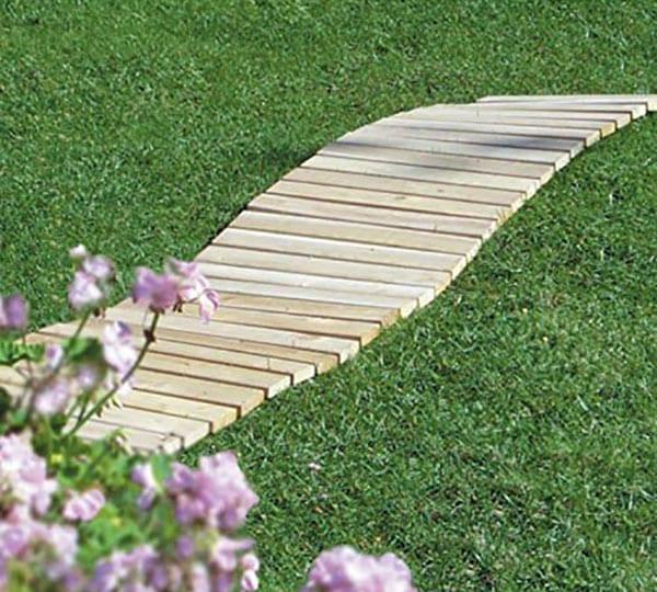 Cedar walkway through grass