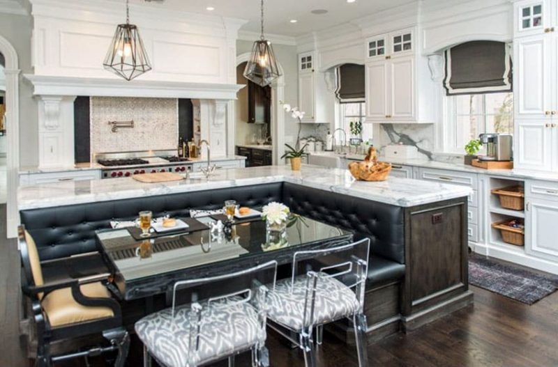 High End Kitchen Islands beautiful kitchen islands with bench seating - designing idea