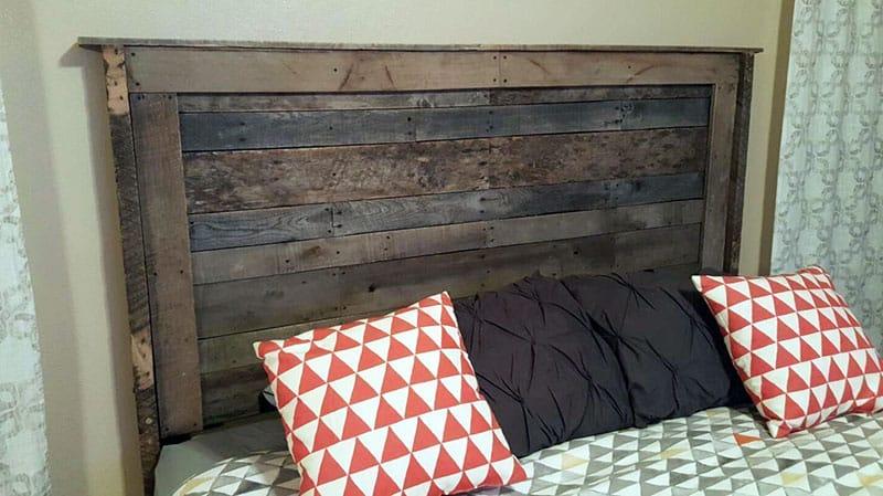 Diy wood pallet bed headboard