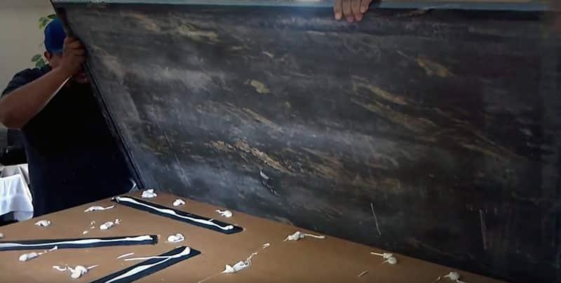 Installing granite slab countertop