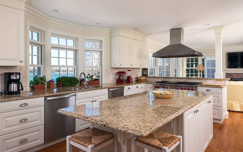 Brown Granite With White Cabinets : Beige granite countertops colors styles designing idea