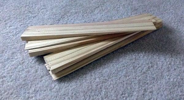 Wood floor shims