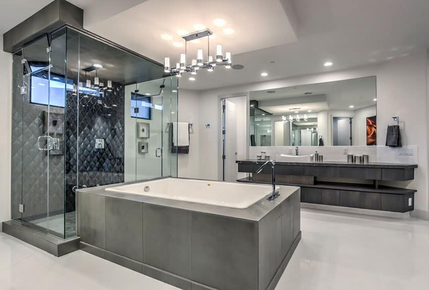 images of tiled walk in showers. Contemporary master bathroom with dark tile walk in shower and enclosed  bathtub 63 Luxury Walk In Showers Design Ideas Designing Idea Pictures Of Tiled Home Plan