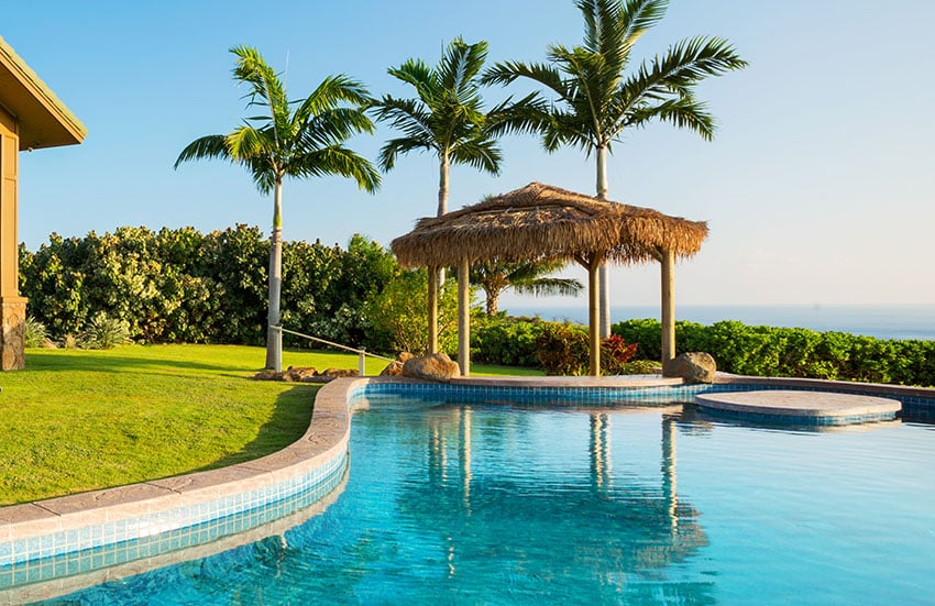 Luxury oceanview home with swimming pool and large palapa