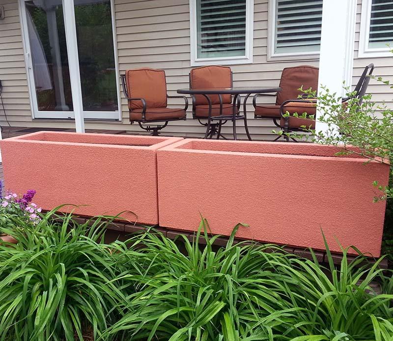 Acrylic planter flower box