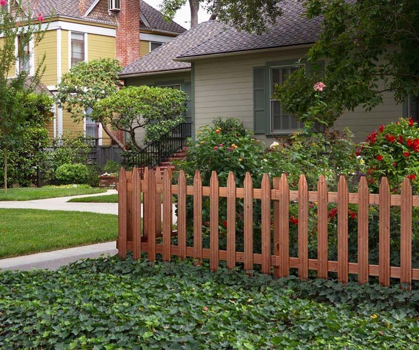 Pressure treated cedar fence