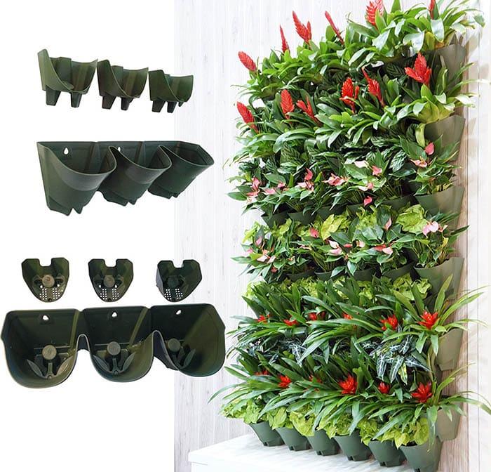Self watering vertical garden kit