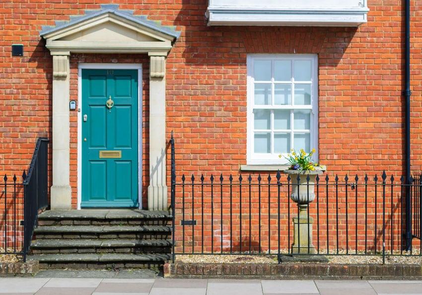 Front door colors paint ideas color meanings designing idea - Terracotta exterior paint set ...