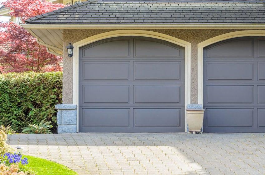 Dark gray garage doors