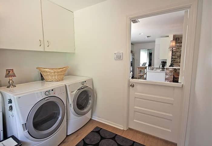 Dutch door in laundry room