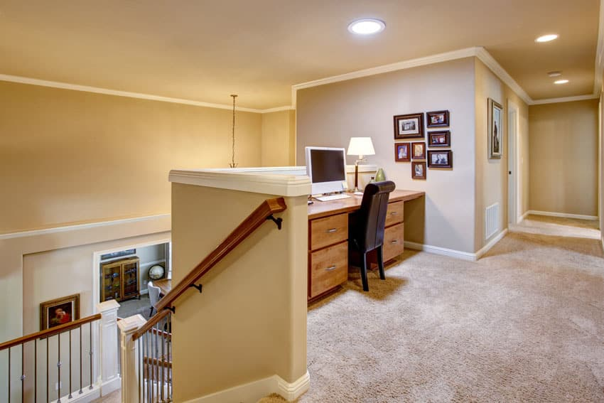 Hallway with home office nook