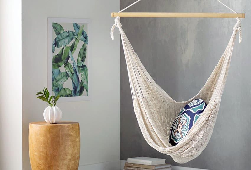 Hanging indoor hammock
