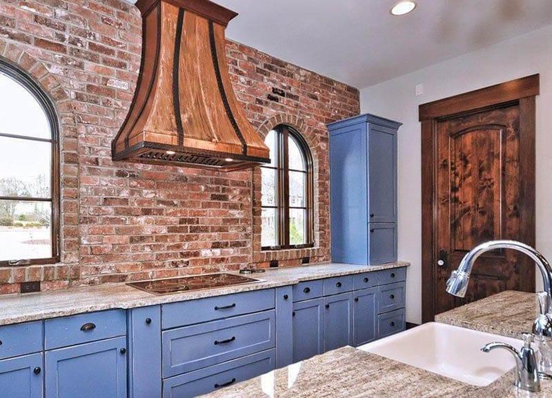 Kitchen with solid wood door