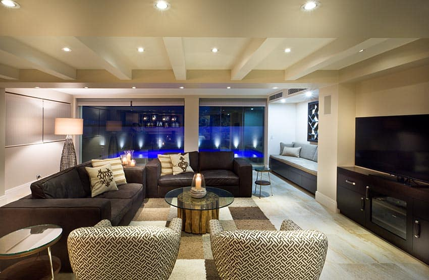 Living room with spacious layout for tv and couch