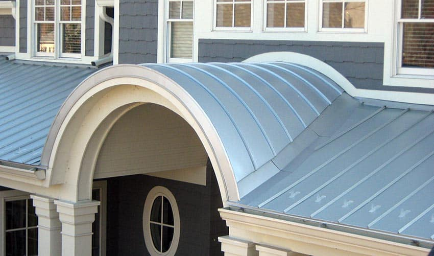 Metal panel roof house