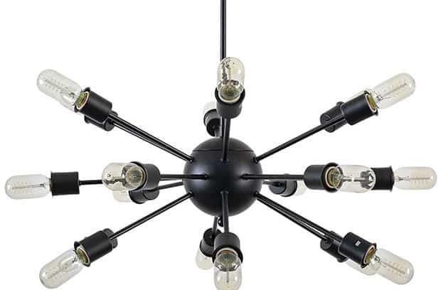 Modern 18 light sputnik chandelier